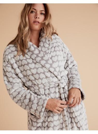Marks & Spencer Kalp Desenli Polar Sabahlık Gri